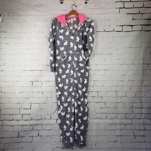 Forever 21 Plush One Piece Pajamas Medium